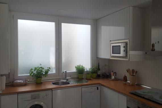 Cerramiento de cocina, ventana PVC en Leganés.
