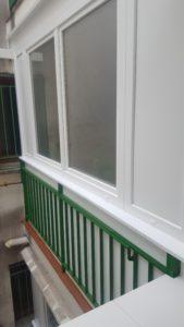 Cerramiento de cocina, ventana PVC en Leganés. Exterior